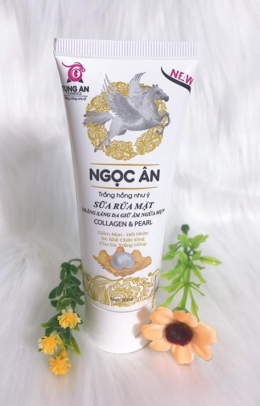 Sữa rửa mặt, trắng sáng da giữ ẩm ngừa mụn collagen ngọc ân trắng hồng như ý đẹp tự tin trắng tự nhiên ( 50ml )