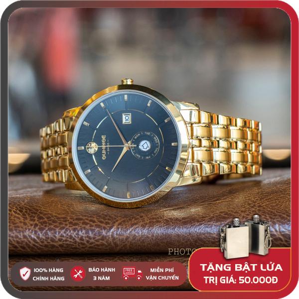 Đồng hồ Nam Sunrise 1115SA Full hộp Bảo Hành 3 Năm Kinh Sapphire Chông Xước Chống Nước Dây Thép Không gỉ 316L