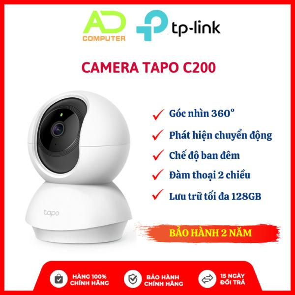 Camera Wi-Fi TP Link Tapo C200 Smart IR 360 độ Full HD 1080P - Bảo Hành Chính Hãng 2 Năm