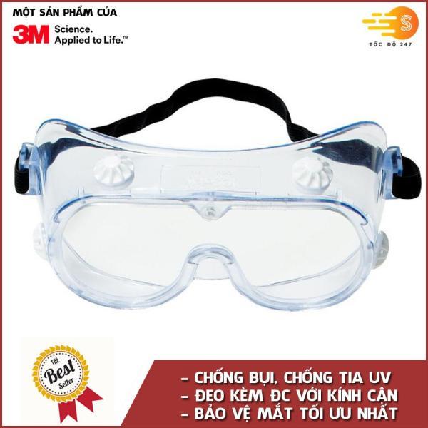 Giá bán Kính bảo hộ mắt chuyên dụng chống hóa chất, bụi và chống tia UV 3M 3M-334
