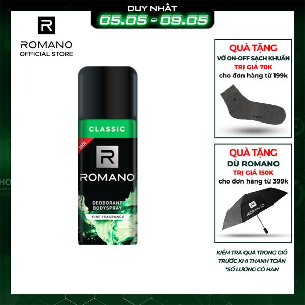 Xịt khử mùi toàn thân Romano Classic 150ml giá rẻ
