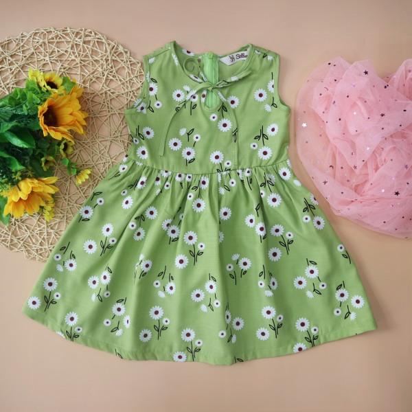 Giá bán Váy bé gái THÔ ĐŨI 2-7 tuổi 9-25kg SILBER KIDS họa tiết hoa cực xinh phối dây nơ