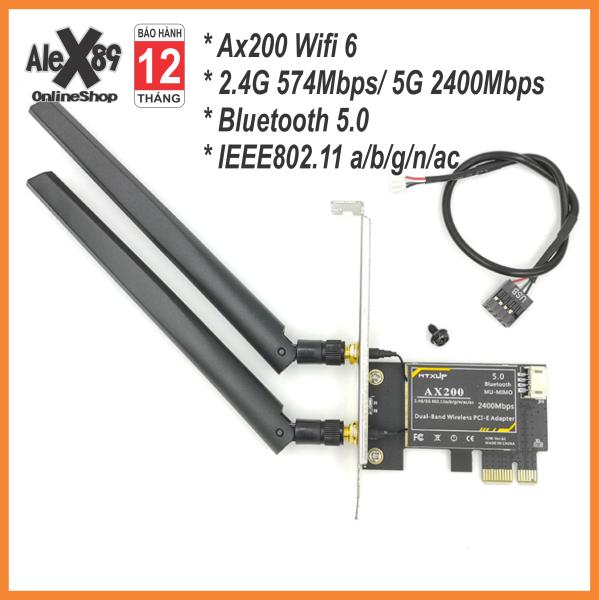 Bảng giá Card Mạng Wifi Intel AX200 Wifi 6, 9620Ac, N1202 Killer Giao Tiếp PCIE - Bảo Hành 12 Tháng Phong Vũ