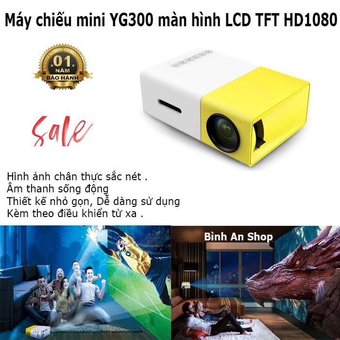 Máy Chiếu Thông Minh 4k 3D 1080P HD, Máy Chiếu Mini YG300 Smart LED Projector Full HD 1080p Cao Cấp Phiên Bản Mới 2019 , Ngôi Nhà lớn Máy Chiếu Mini LCD Máy Chiếu LED di động Rạp Hát Tại Nhà Rạp Chiếu Phim bộ phát đa phương tiện Video