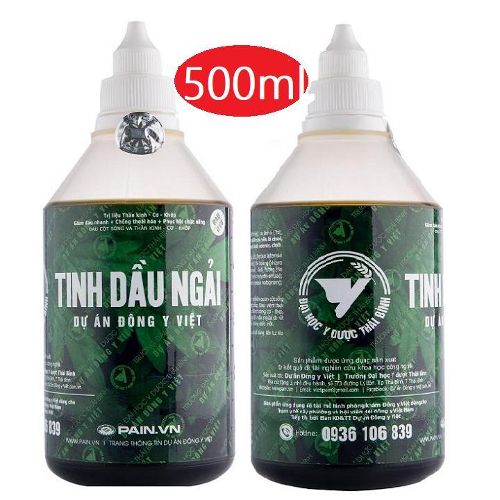 Tinh dầu ngải cứu-ĐH y dược Thái bình 500ml tặng cây lăn massa chính hãng