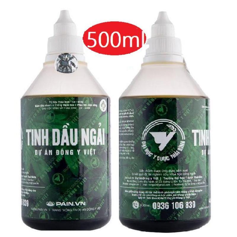 Tinh dầu ngải cứu-ĐH y dược Thái bình 500ml tặng cây lăn massage 49k tốt nhất