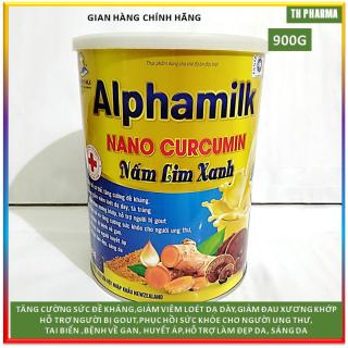 Sữa bột Alphamilk NaNo Curcumin Nấm Lim Xanh 900g , tăng cường sức đề kháng , giảm viêm dạ dày, xương khớp, gout, ung thư , tai biến , gan, huyết áp , làm đẹp da- Nguyên liệu nhập khẩu Newzelean thumbnail