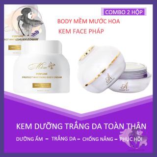 [COMBO 2 HỘP] Kem Face Pháp 2020 Acosmetics - Kem Body Mềm Dưỡng Trắng Da, Giảm Thâm Nám, Tàn Nhang, Dưỡng Ẩm, Chăm sóc Da mặt, Chống Nắng, Chống Lão Hoá, Whitening Face Cream - Whitening Body Cream - Claura Beauty CBFP Hoa 2020 Acosmetics thumbnail
