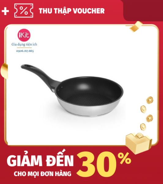 [Lấy mã giảm thêm 30%]Chảo inox chống dính bếp từ Fivestar size 28 Chảo dày 3 đáy giữ nhiệt tốt chiên rán đồ ăn ngon