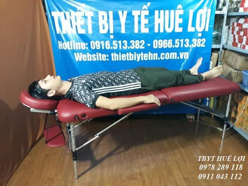 Giường spa gấp di động cao cấp (chân hợp kim nhôm) HL2