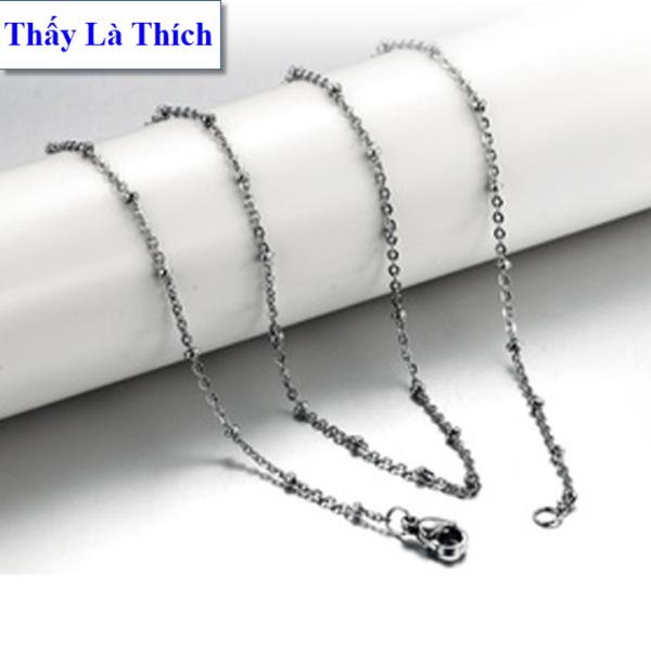 Giá bán Dây chuyền bé trai Titan kiểu dây thắt bi - An toàn cho trẻ - Cam kết 1 đổi 1 nếu hoen , gỉ sét