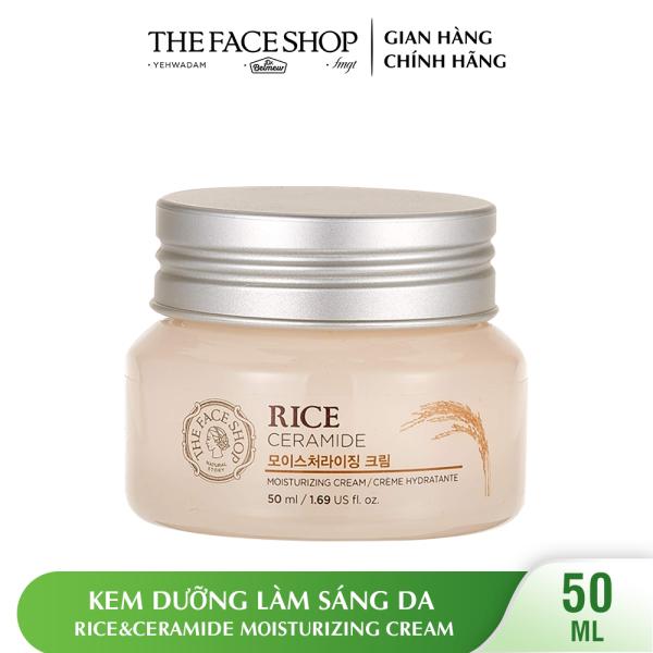 Kem Dưỡng Làm Sáng Da THEFACESHOP Rice&Ceramide Moisturizing Cream 50ml giá rẻ