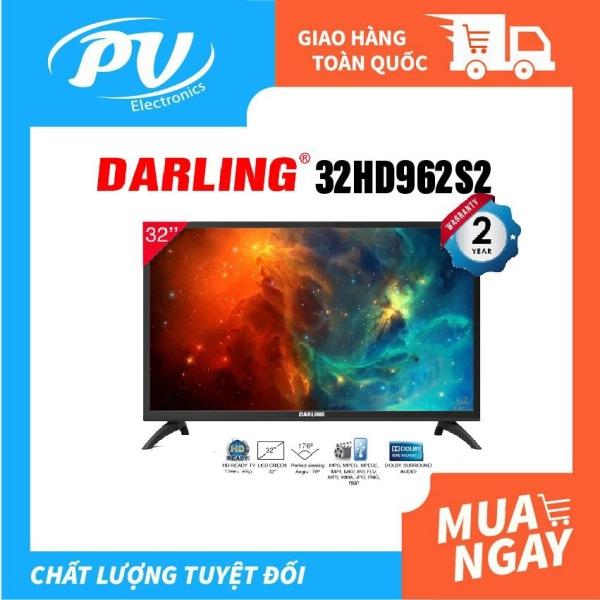 Bảng giá Tivi LED Digital DVB-T2 Darling 32 inch Model 32HD962S2 (HD Ready, Dolby Surround, Truyền hình KTS DVB-T2 / DVB-S2, màu đen) - Tivi giá rẻ - Bảo hành toàn quốc 2 năm