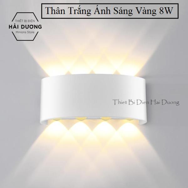 Đèn trang trí hắt tường 2 đầu - 8w chống nước TN189 (Đen/Trắng)