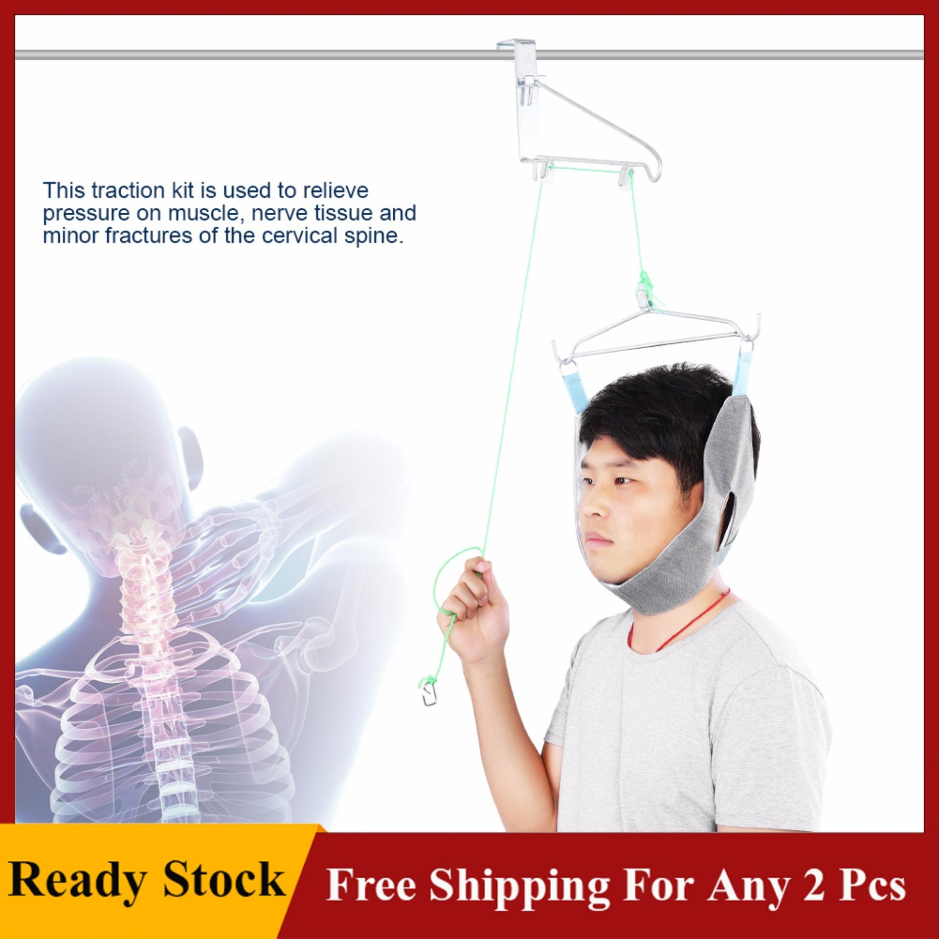 Adjustable Cervical Traction Neck Brace Fixation Gear Neck Correction Stretcher Pain Relief