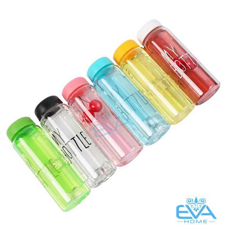 Bình Nước Thủy Tinh In Chữ My Bottle Nhiều Màu 500ml Nhật Bản