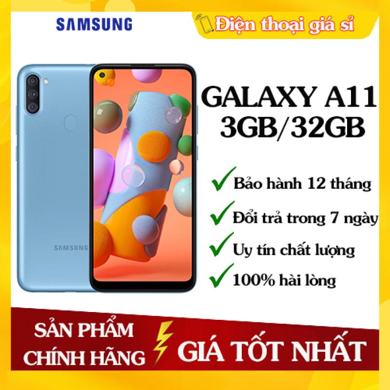 Điện Thoại Samsung Galaxy A11 ROM 32GB RAM 3GB - Hàng chính hãng, Mới 100%, Nguyên seal, Bảo hành 12 tháng [Điện thoại giá rẻ]