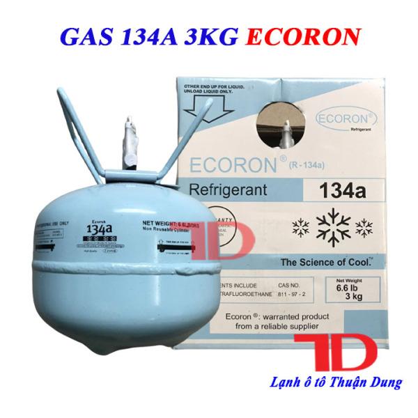 Gas lạnh điều hòa ô tô R134 Ecoron 3kg, môi chất lạnh R134