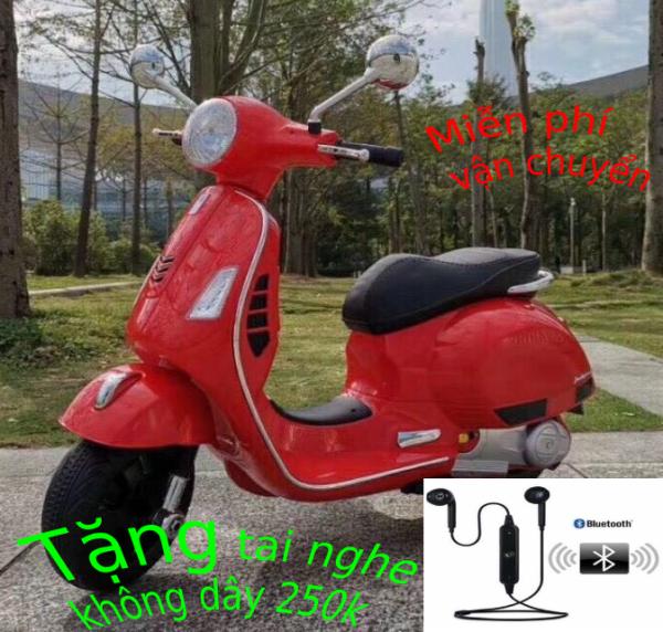 Phân phối xe máy điện trẻ em vecpa - xe máy điện vespa cho bé sành điệu 1-8 tuổi  loại to nhất