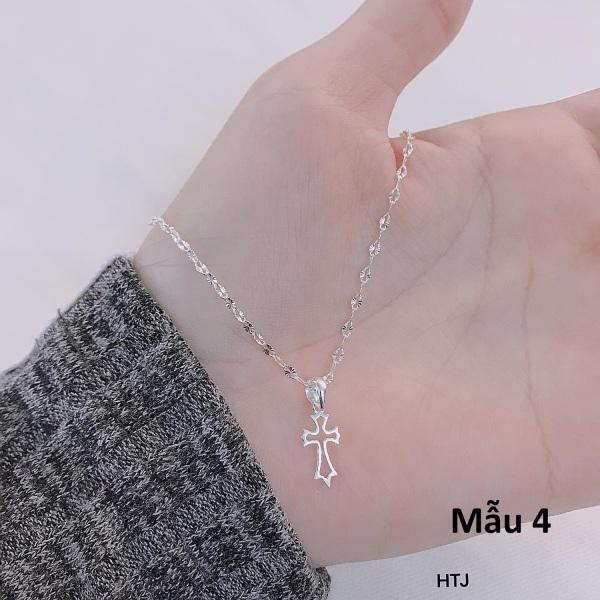 Dây chuyền nữ bạc Ý mặt thánh giá MS95b