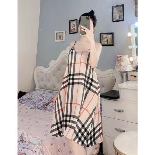 [ Babi mama ] Váy Ngủ 2 Dây Lụa Satin Đầm Mặc Nhà Baby Tôn Dáng Cao Cấp - BV02 thumbnail