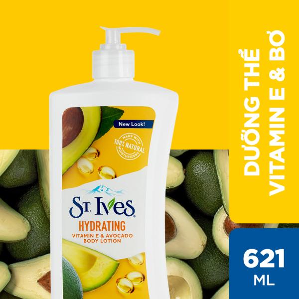 Sữa dưỡng thể ST.IVES Vitamin E và Bơ 621ml