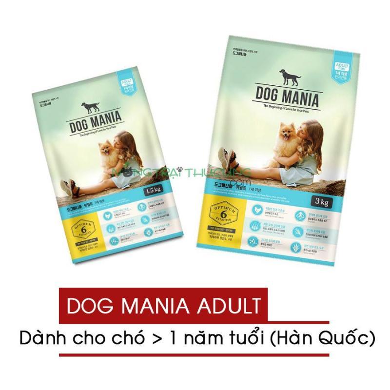 Thức ăn hạt cho chó lớn - chó trưởng thành Dog Mania Adult (nhập khẩu Hàn Quốc) - [Nông Trại Thú Cưng]