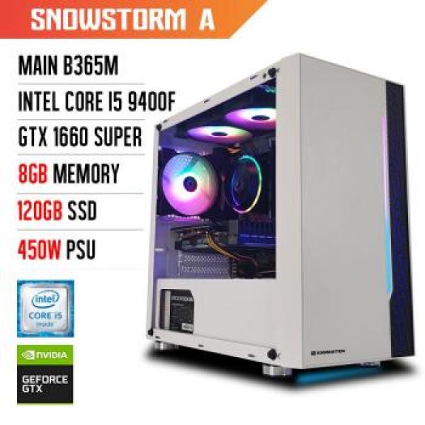 Bảng giá [Trả góp 0%][NEW BH 36T] Máy tính chơi game KDAO Snowstorm A - I5 9400F/ B365M/ 8GB/ GTX 1660S/ 120G/ 500W Phong Vũ