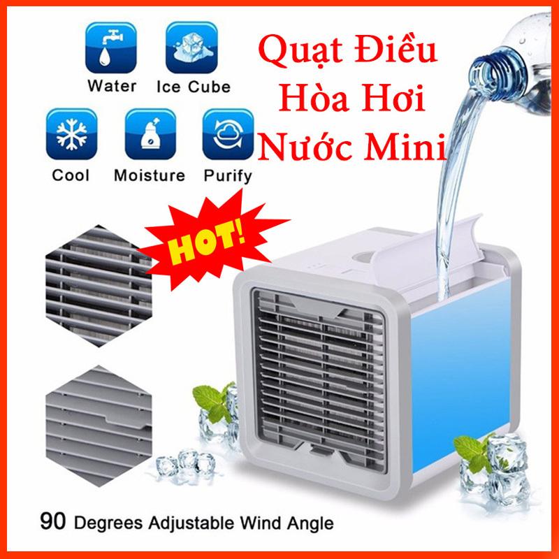 Máy Điều Hòa Mini Bằng Nước Đá - Quạt điều hòa hơi nước để bàn - Tạo độ ẩm, không làm khô da - Có chức năng lọc không khí - Bảo hành 6 tháng - UY TÍN & CHẤT LƯỢNG
