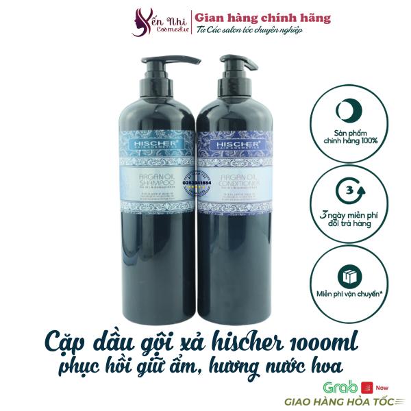 hischer dầu gội hischer argan oil dầu cặp phục hồi giữ ẩm sâu hischer 1000ml DG12 giá rẻ