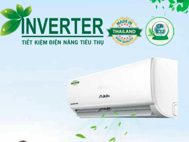 MÁY LẠNH AIKIBI 1.5 HP LOẠI TREO TƯỜNG INVERTER MF - GAS R32