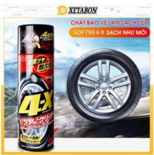 Chai Xịt Đen Bóng Lốp Bảo Vệ Lốp Xe Ô tô - 4x TIRE CLEANER ( SOFT99 - 470ml ) thumbnail