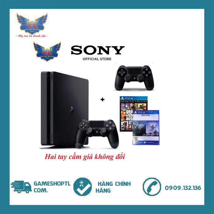 [TRẢ GÓP 0%] Máy chơi game PS4 Slim 1TB Mega Pack 2 CUH-2218B-2 Tay Cầm -Chính Hãng ( Bh 12 tháng)