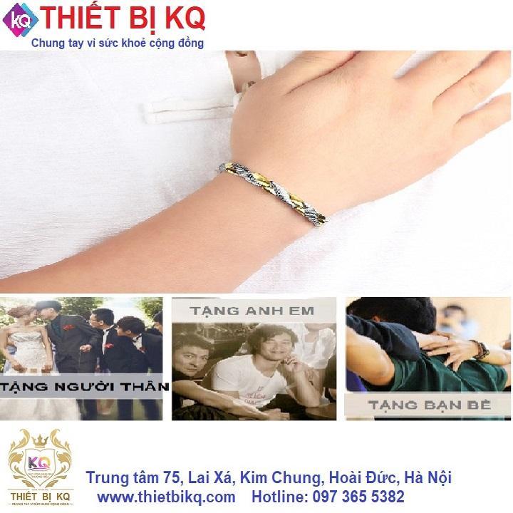 Vòng điều hoà huyết áp đeo tay nữ Hottime