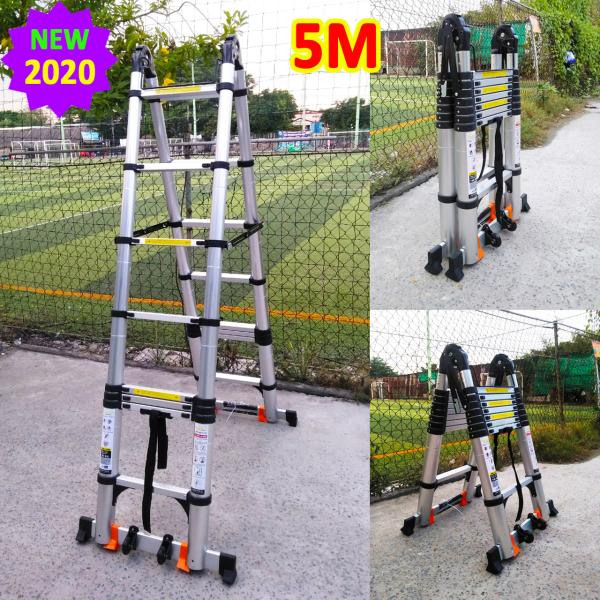 Thang nhôm rút xếp đôi [chữ I: 5M - chữ A: 2.5M] Sumika SK500D NEW 2020 SKS500D