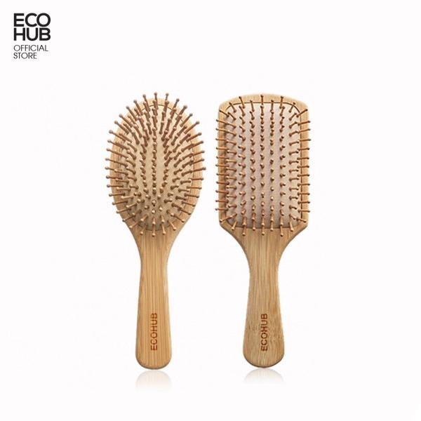 Lược chải tóc ECOHUB làm từ tre nhỏ gọn bỏ túi tiện dụng giá rẻ