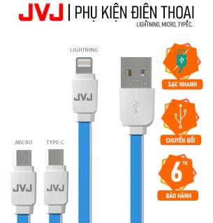 Cáp sạc nhanh JVJ SA-21 lightning micro typec cho các dòng xiaomi mi 10t pro Samsung S20 Note 10 Plus Huawei iphone, IOS, iPhone Samsung Oppo Huaiwei Bộ Sạc Nhanh Type-C USB-C TypeC USBC Dây Cáp Dữ Liệu - Bảo hành 12T chính hãng thumbnail