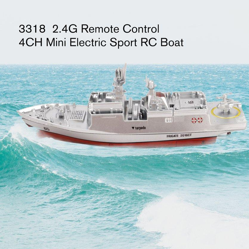 3319 2.4G Remote Control Boat Mini Electric Sport RC Boat Waterproof Rechargeable Children Water Toys