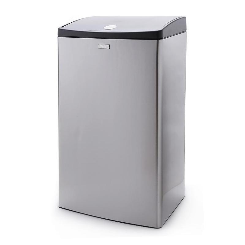 Thùng rác Inox nhấn vuông lớn Fitis Mega STL2-901 - 40 Lít (INOX)