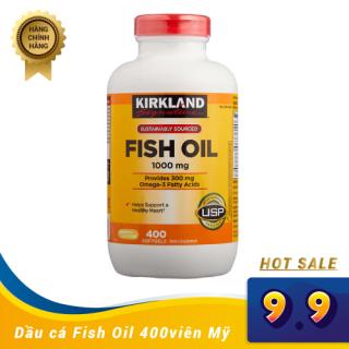 Viên uống Dầu cá Kirkland SignatureTM Omega-3 Fish oil 400 Viên nhập từ Mỹ thumbnail