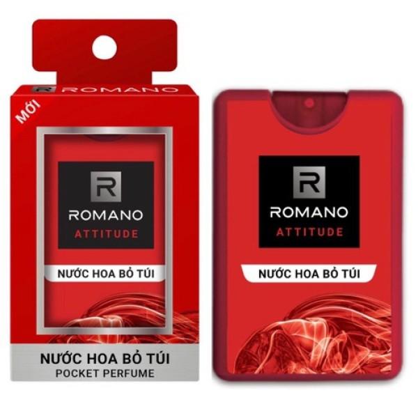Nước Hoa Cao Cấp bỏ túi Romano 18Ml đủ mùi