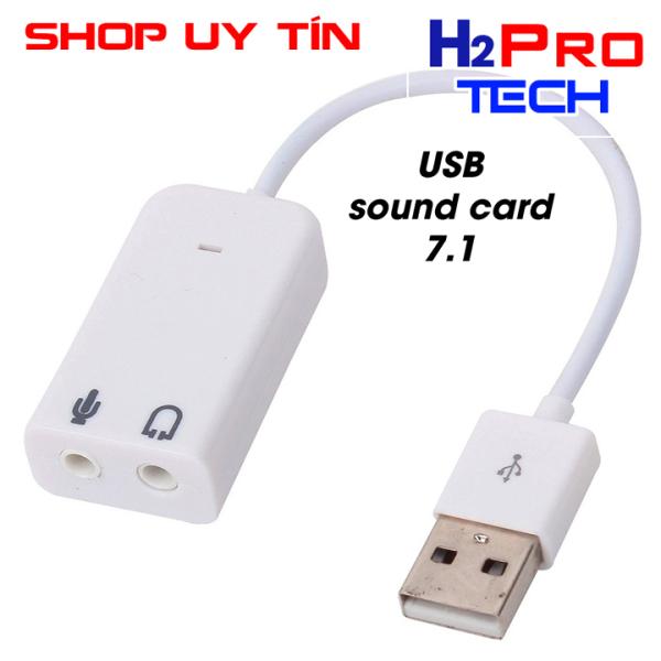 Card USB chuyển đổi âm thanh sang jack 3.5mm hay USB SOUND CARD ÂM THANH 7.1