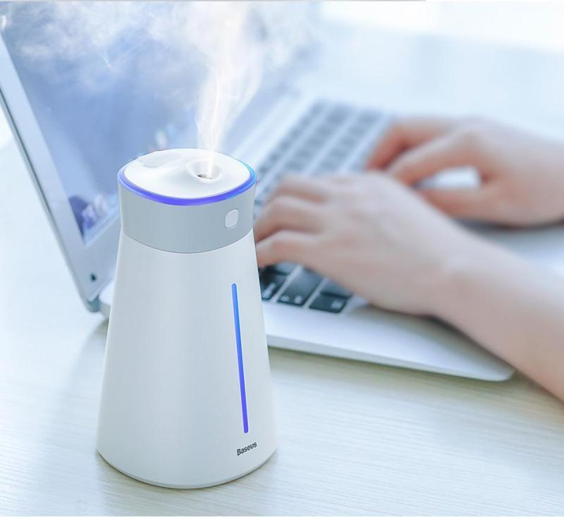 Máy phun sương, khuếch tán tinh dầu đa năng  tạo độ ẩm chăm sóc da thương hiệu cao cấp Baseus dùng trong phòng ngủ, văn phòng làm việc và trên ô tô tự động ngắt khi hết nước dung lich 380ml