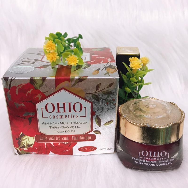 Kem nám - mụn - trắng da - thâm - bảo vệ da - ngừa đỏ da OHIO chiết xuất trà xanh - tinh dầu gạo ( 22g ) nhập khẩu