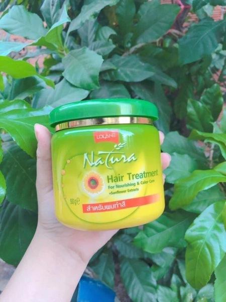 Kem ủ dưỡng tóc tinh chất Hoa Hướng Dương Lolane Natura Hair Treatment 500g nhập khẩu