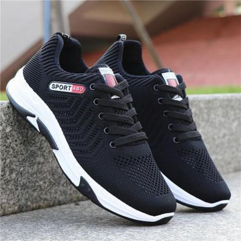 (Kèm Video) Giày Sneaker Nam Kiểu Dáng Trẻ Trung - Sport Abuuu Có 2 Màu Xám Và Đen - B End T Shop giá rẻ
