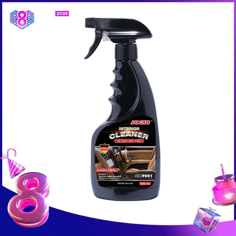 Dung dịch vệ sinh nội thất oto Focar Interior cleaner 0,5L