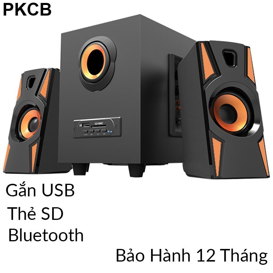 Loa vi tính Bluetooth Super Bass loa di động dùng cho điện thoại, máy tính bảng, laptop, máy tính Cao cấp Có Kết Nối Bluetooth, USB PKCB A900 bộ 3 loa Loa hay ấn tượng