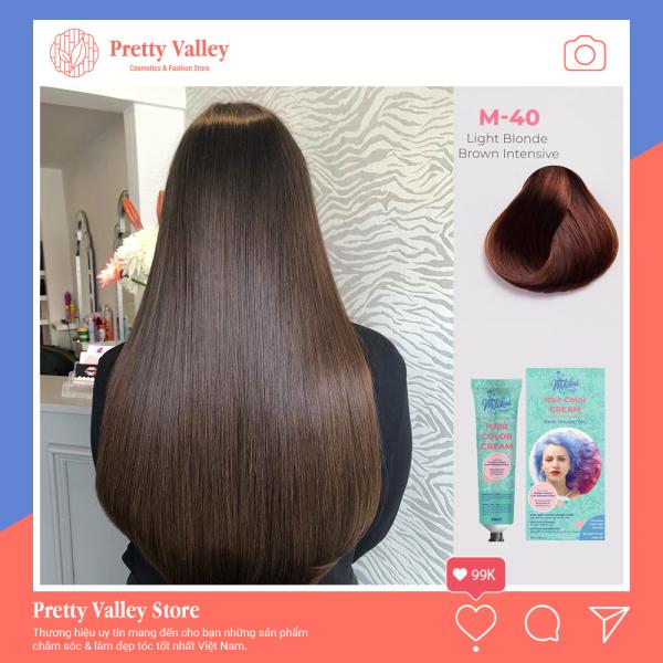 Kem nhuộm tóc cao cấp màu nâu socola Molokai 60ml [ TẶNG KÈM GĂNG TAY + CHAI OXY TRỢ DƯỠNG TÓC ] giá rẻ