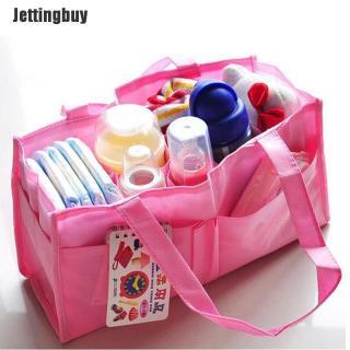 Túi đựng tã em bé Jettingbuy mang đi du lịch dành cho mẹ bỉm sữa có màu xanh và hồng - INTL thumbnail